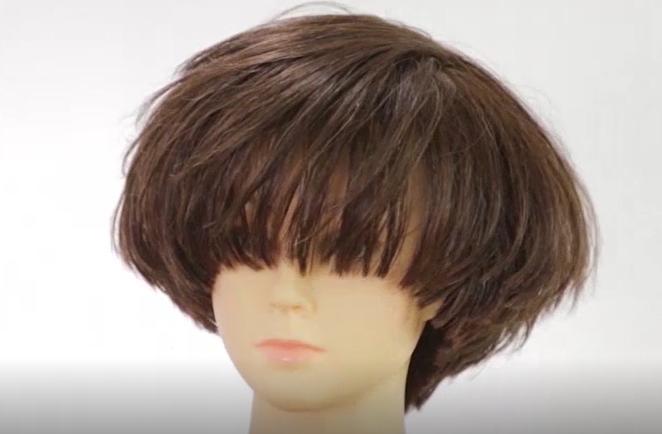 圆固体发型修剪作品